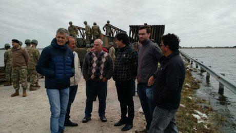 La Pampa autoridades en el corte de la ruta 188