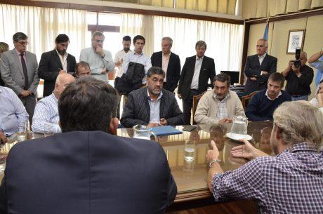 Intendentes de La Pampa con el ministro Frigerio