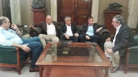 Intendentes previo al encuentro con Salvador y De La Torre
