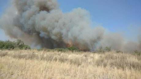 La Pampa incendios en La Adela